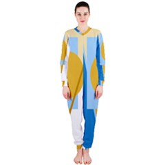 Blue and yellow abstract design OnePiece Jumpsuit (Ladies)