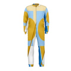 Blue and yellow abstract design OnePiece Jumpsuit (Kids)