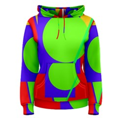 Colorful geometric design Women s Pullover Hoodie