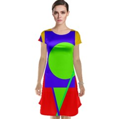 Colorful geometric design Cap Sleeve Nightdress