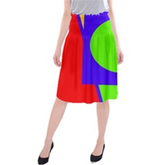 Colorful geometric design Midi Beach Skirt