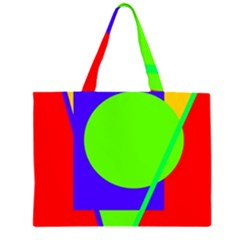Colorful geometric design Large Tote Bag