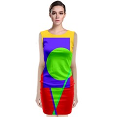 Colorful Geometric Design Classic Sleeveless Midi Dress