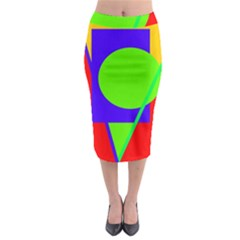 Colorful geometric design Midi Pencil Skirt