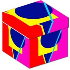 Colorful geometric design Storage Stool 12