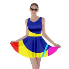 Colorful geometric design Skater Dress