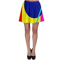 Colorful geometric design Skater Skirt