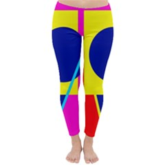 Colorful geometric design Winter Leggings