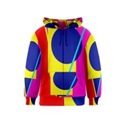 Colorful geometric design Kids  Zipper Hoodie