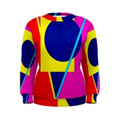 Colorful geometric design Women s Sweatshirt
