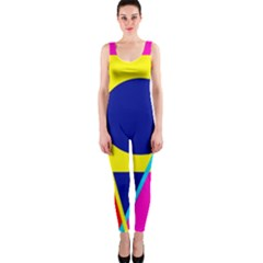 Colorful geometric design OnePiece Catsuit
