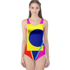Colorful geometric design One Piece Swimsuit