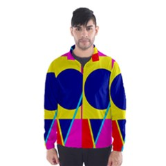 Colorful geometric design Wind Breaker (Men)