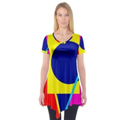 Colorful geometric design Short Sleeve Tunic