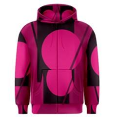 Decorative geometric design Men s Zipper Hoodie