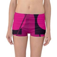 Decorative geometric design Boyleg Bikini Bottoms