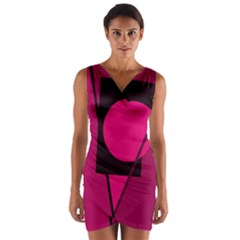 Decorative geometric design Wrap Front Bodycon Dress
