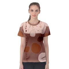 Brown abstract design Women s Sport Mesh Tee