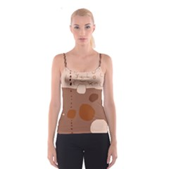 Brown abstract design Spaghetti Strap Top