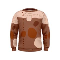 Brown abstract design Kids  Sweatshirt