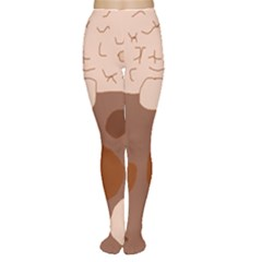 Brown abstract design Women s Tights