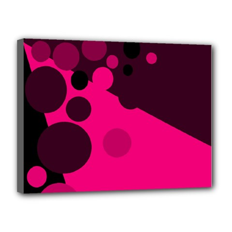 Pink dots Canvas 16  x 12