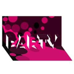 Pink dots PARTY 3D Greeting Card (8x4)