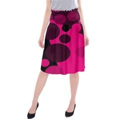 Pink dots Midi Beach Skirt