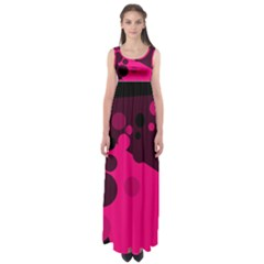 Pink dots Empire Waist Maxi Dress