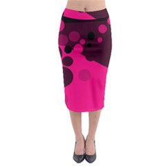 Pink dots Midi Pencil Skirt