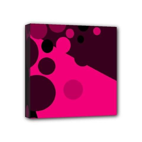 Pink dots Mini Canvas 4  x 4
