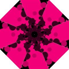 Pink dots Golf Umbrellas