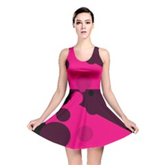 Pink dots Reversible Skater Dress