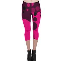 Pink dots Capri Leggings