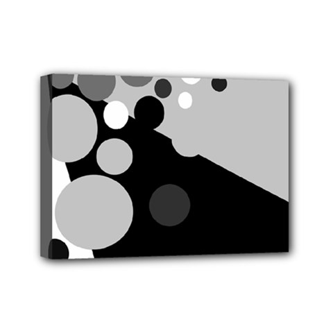 Gray decorative dots Mini Canvas 7  x 5