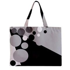 Gray decorative dots Zipper Mini Tote Bag