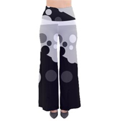 Gray decorative dots Pants