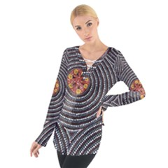 SDA1535 Indigenous Wearable Art from Central Australia Women s Tie Up Tee