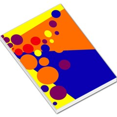 Blue and orange dots Large Memo Pads