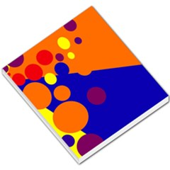 Blue and orange dots Small Memo Pads