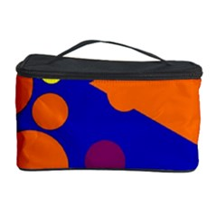 Blue and orange dots Cosmetic Storage Case