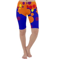 Blue and orange dots Cropped Leggings