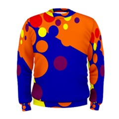 Blue and orange dots Men s Sweatshirt
