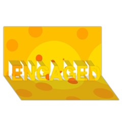 Abstract sun ENGAGED 3D Greeting Card (8x4)