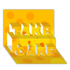 Abstract sun TAKE CARE 3D Greeting Card (7x5)