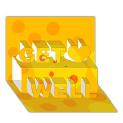 Abstract sun Get Well 3D Greeting Card (7x5)
