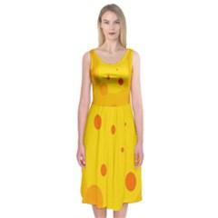 Abstract sun Midi Sleeveless Dress