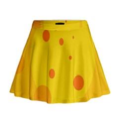 Abstract sun Mini Flare Skirt
