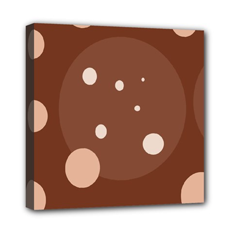 Brown abstract design Mini Canvas 8  x 8