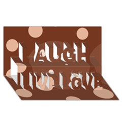 Brown abstract design Laugh Live Love 3D Greeting Card (8x4)